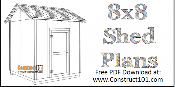 DIY 8x8 Gable Shed | Building Plans | Free PDF Download