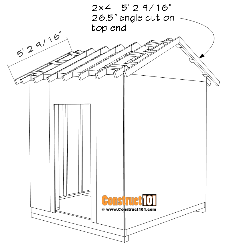 DIY 8x8 gable shed, roof trim.