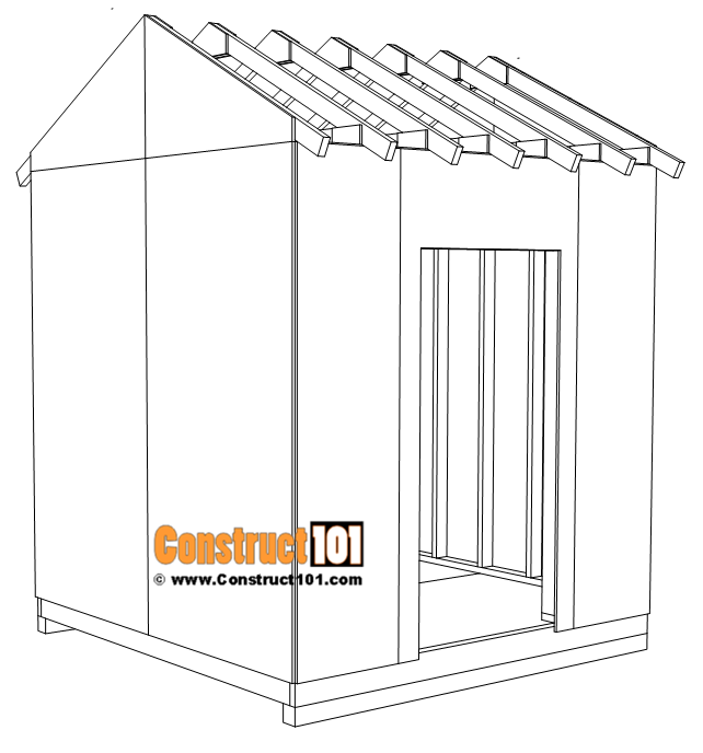 DIY 8x8 gable shed, t1-11 exterior siding.