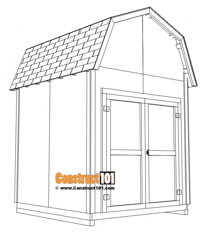 Diy 8x8 barn shed.