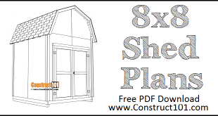 DIY 8x8 Barn Shed Plans | Free Plans | PDF Download