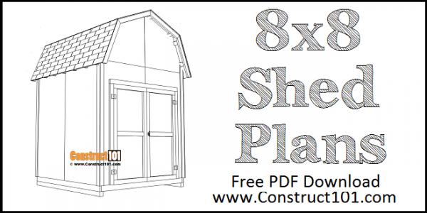 DIY 8x8 Barn Shed Plans | Free Plans | PDF Download
