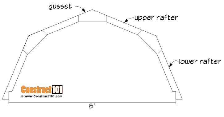 8x8 rafter/truss details.