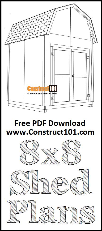 DIY 8x8 Barn Shed | Free Plans | Free PDF Download