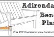 Adirondack bench plans free PDF download.
