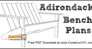 Adirondack bench plans free PDF download.