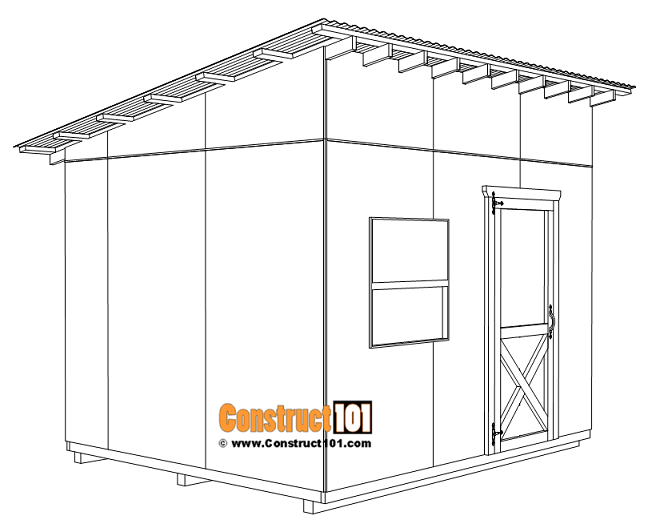Large 10x12 lean to shed plans, shed door installation.