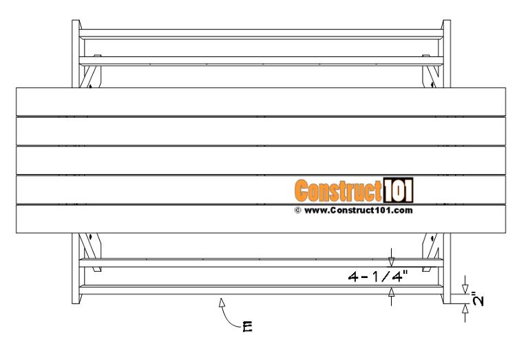 Seat brace installation details.