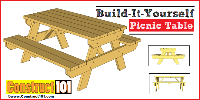 Traditional picnic table plans.