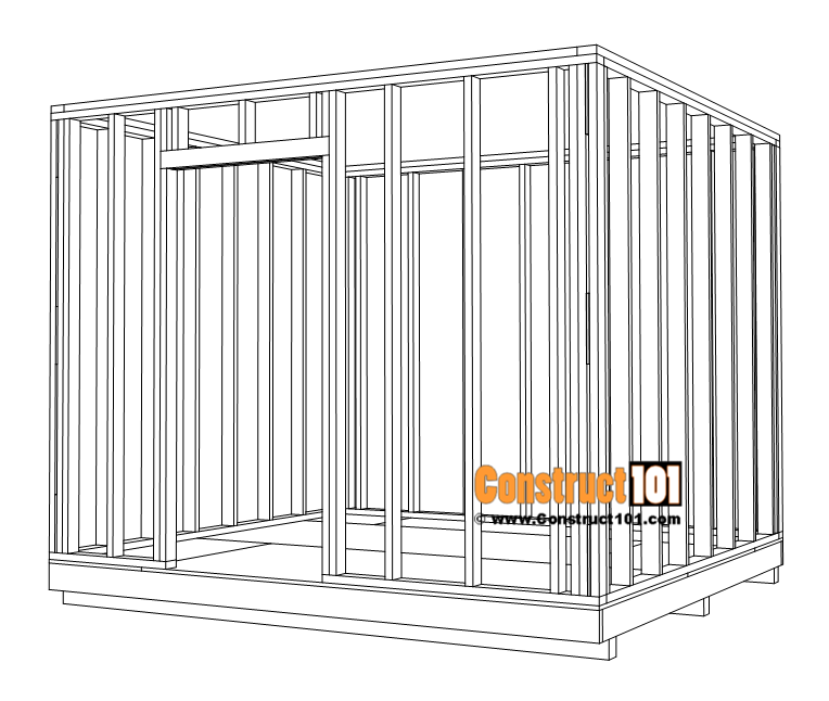 Large 10x10 lean to shed plans, wall framing.