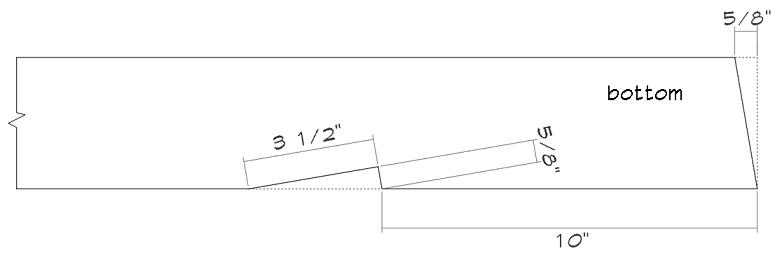Shed rafter bottom details.