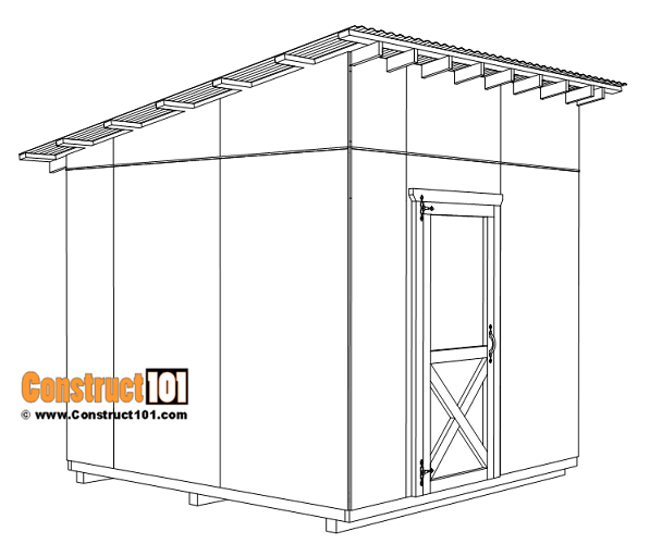 Large 10x10 lean to shed plans, shed door installation.