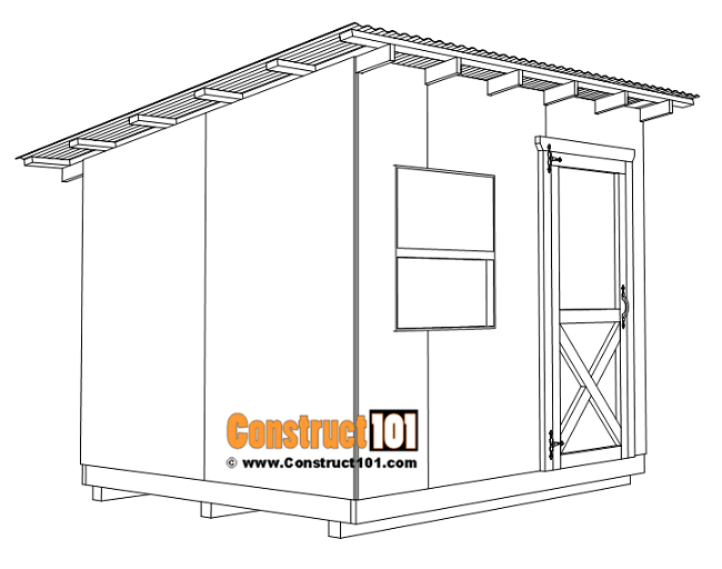 8x10 lean to shed plans, shed door details.