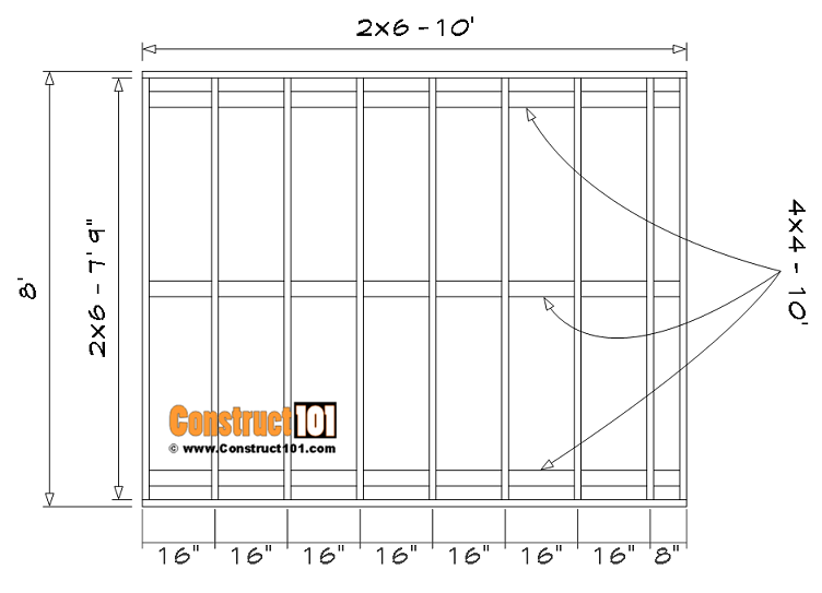 8x10 shed floor framing.