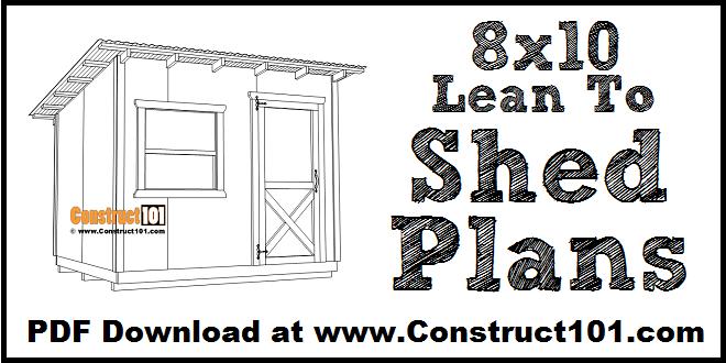 8x10 Lean To Shed Plans Free PDF Download