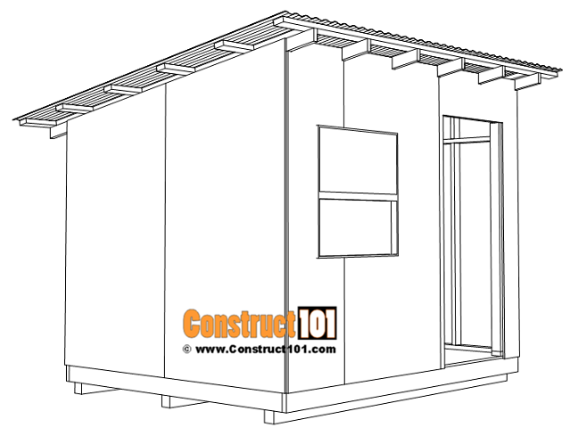 8x10 lean to shed plans, corrugated roofing panels.
