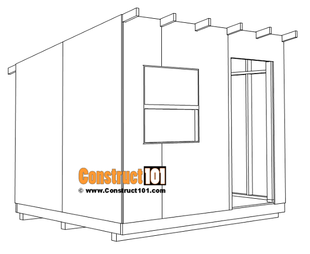 8x10 lean to shed plans, t1-11 exterior siding.
