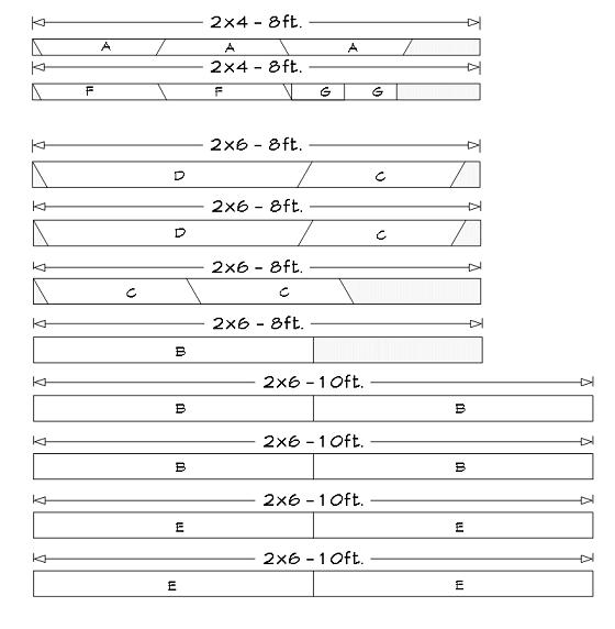 5 foot picnic table plans, parts list, cutting list.